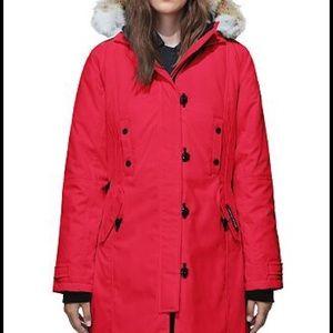 CANADA GOOSE KENSINGTON WOMEN'S RED PARKA COAT, M